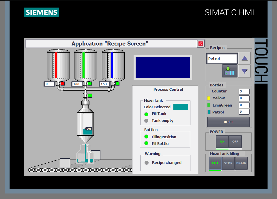 Siemens HMI Visualisierung
