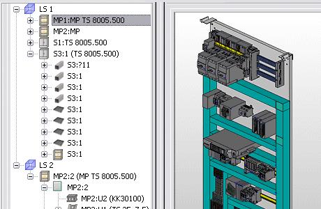 Eplan 3D Schrankaufbau